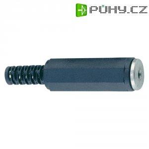 Jack konektor 2,5 mm stereo BKL 1108002, zásuvka rovná, 3pól., černá