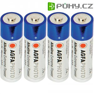 Alkalická baterie Agfaphoto AA , sada 4 ks