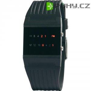 LED náramkové hodinky, WA-139, plastový pásek, černá/červená