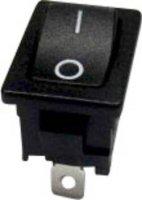 Kolébkový spínač SCI R13-66F-02 bez aretace 250 V/AC, 6 A, 1x vyp/(zap), černá, 1 ks