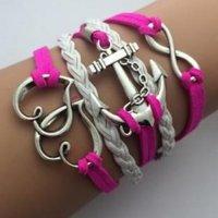 Šperk náramek Infinite růžová 1