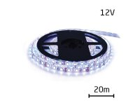LED pásek 12V 3528 120LED/m IP20 max. 9.6W/m bílá studená (cívka 20m)