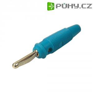 Banánkový konektor zástrčka, rovná Ø pin: 4 mm modrá SKS Hirschmann VQ 30 1 ks