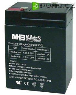 Pb akumulátor MHB VRLA AGM 6V/4Ah