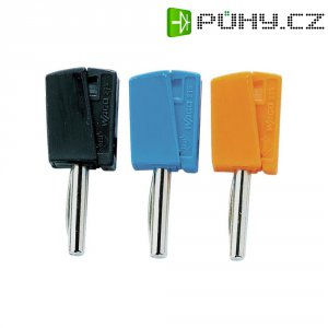 Banánkový konektor Ø pin: 4 mm WAGO zástrčka, rovná, oranžová, 1 ks
