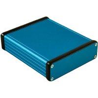 Univerzální pouzdro hliníkové Hammond Electronics, (d x š x v) 120 x 103 x 30,5 mm, modrá