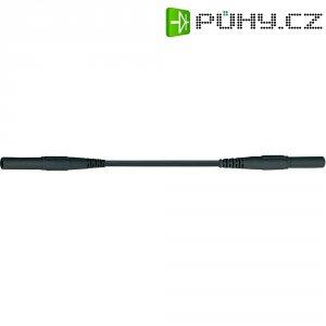 Měřicí silikonový kabel banánek 4 mm ⇔ banánek 4 mm MultiContact XMF-419, 2 m, černá