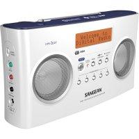 DAB+ rádio Sangean DPR-26 BT, FM, aku, bílá