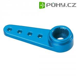 Hliníková páka serva jednostranná Reely, 27 mm, 4 otvory, modrá