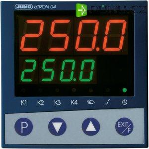 Kompaktní třístupňový termostat s časovačem Jumo CTRON04, 110-240V/AC