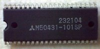 M50431-101SP, 8-bit microcontroler DIP-64