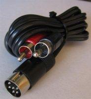Kabel DIN6-2x CINCH 1m