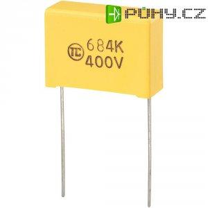 Foliový kondenzátor MKS, 0,47 µF, 400 V, 5 %, 26,5 x 8,5 x 17 mm
