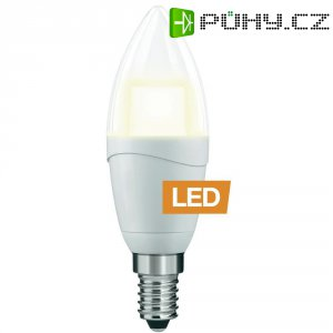 LED žárovka Ledon B35/C, 25000641, E14, 5 W, 230 V, stmívatelná, teplá bílá