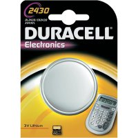 Knoflíková baterie Duracell CR2430, lithium, DUR030398