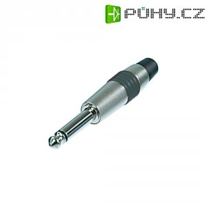 Jack konektor 6,35 mm mono Rean AV NYS224C-4, zástrčka rovná, ≤ 6 mm, 2pól., stříbrná/žlutá