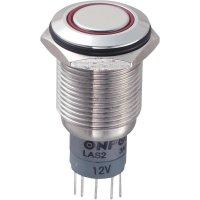 Tlačítkový spínač antivandal TRU Components LAS2GQF-11ZE/R/12V/S/P, 250 V/AC, 3 A, 1 ks