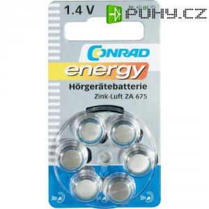 Knoflíková baterie Conrad energy ZA675, zinek/vzduch, 630 mAh, 1,4 V, 6 ks