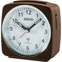 Analogový DCF budík Eurochron EFW 652, HD-TRC041, 95 x 98 x 50 mm, hnědá