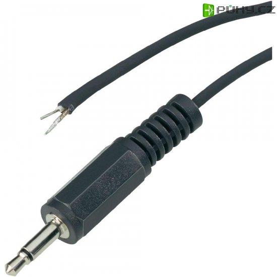 Jack konektor 2,5 mm stereo BKL, zástrčka rovná, 3pól., černá - Kliknutím na obrázek zavřete