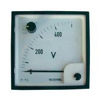 Analogový vestavný měřicí přístroj Weigel EQ 96 SWT, 0 - 500 V/ AC