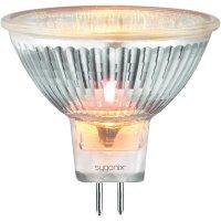 Halogenová žárovka Sygonix, 12 V, 35 W, GU5.3, Ø 50 mm, stmívatelná, teplá bílá