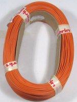 Vodič-lanko 0,5mm2 oranžový silikonový, balení 100m