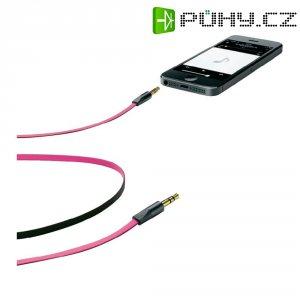 Připojovací kabel CellularLine, jack zástr. 3.5 mm/ jack zástr. 3.5 mm, růžový, 1 m