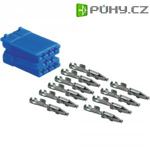 Mini ISO zástrčka AIV, 10 kontaktů, modrá