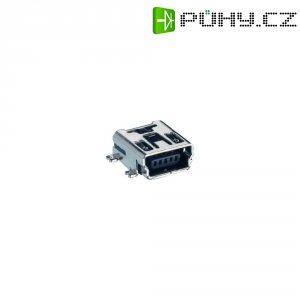 Mini USB konektor 2.0 vestavný do DPS Lumberg 2486 01, mini USB Typ B