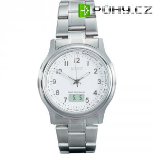 Ručičkové náramkové DCF hodinky Eurochron EFAU 1502, pásek z nerezové oceli