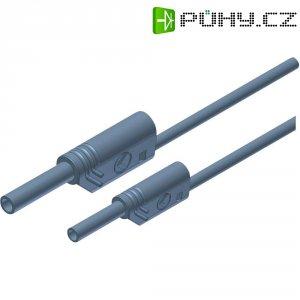 Měřicí kabel banánek 4 mm ⇔ banánek 2 mm SKS Hirschmann MAL S WS 2-4 100/1, 1 m, šedá