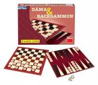 Hra stolní DINO DÁMA a BACKGAMMON