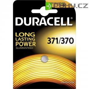Knoflíková baterie 371, na bázi oxidu stříbra, Duracell 371, DUR067820