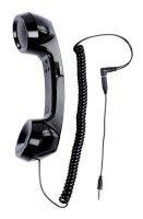 Sluchátko retro telefonní černé