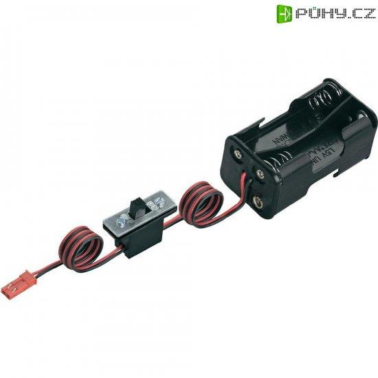 Držák baterie Modelcraft, 4x AA, BEC, se spínačem - Kliknutím na obrázek zavřete