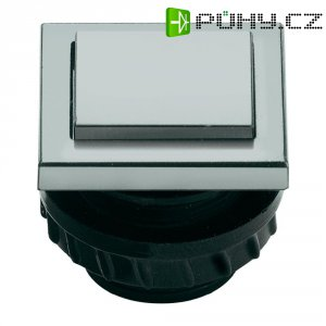 Zvonkové tlačítko Grothe Protact 61047, max. 24 V/1,5 A, stříbrný plast