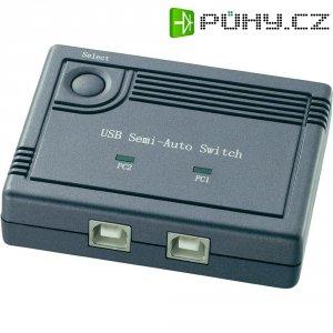 USB přepínač, 2port., 85 x 23 x 65 mm