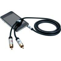 Připojovací kabel Oehlbach, jack zástr. 3.5 mm/cinch zástr., černý, 3 m