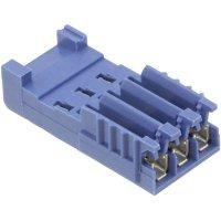 Pouzdro HE14 IDC TE Connectivity 281786-3, zásuvka rovná, AWG 28-26, 2,54 mm, 3 A, modrá