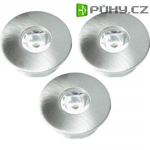 Sada vestavných LED osvětlení, 3 ks, stříbrná/šedá/hliník
