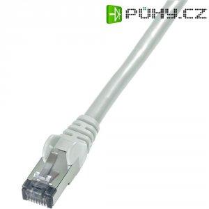 Patch kabel, CAT 6 S/FTP, RJ45, vidlice ⇔ vidlice, šedá, 3 m