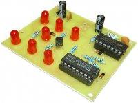 Hrací kostka elektronická červená STAVEBNICE