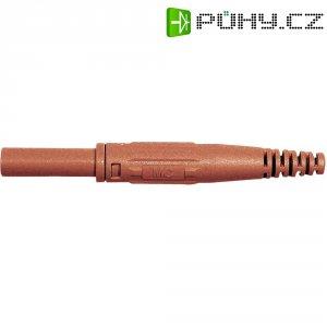 Laboratorní konektor Ø 4 mm MultiContact 66.9155-22, zásuvka rovná, červená