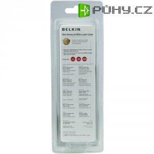 Připojovací kabel Belkin jack zástr. 3,5 mm/cinch, černý, 2 m, pozl.kontakty