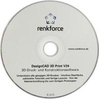 3D tiskárna Renkforce RF1000 vč. SW Franzis DesignCAD 3D Print V24