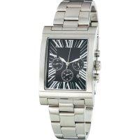 Ručičkové náramkové hodinky Chronograph, JS-161, pásek z nerezové oceli