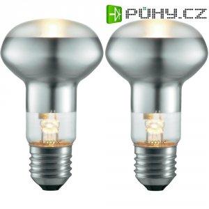 Halogenová žárovka Sygonix, E27, 53 W, 105 mm, stmívatelná, teplá bílá, 2 ks