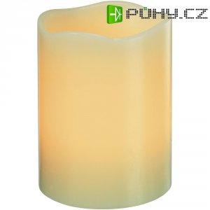 Dekorativní LED svíčka, 7,5 x 10 cm, slonová kost