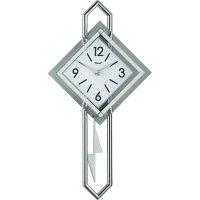 Quarz kyvadlové hodiny - pendlovky, 28 x 54 cm, černá/bílá